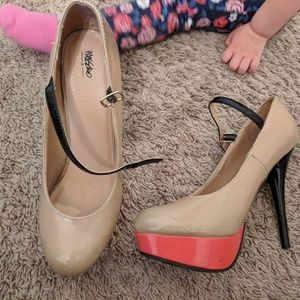 Mossimo Beige and Pink Heels